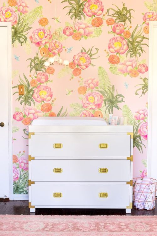 Flower Wall Girls Room Decor