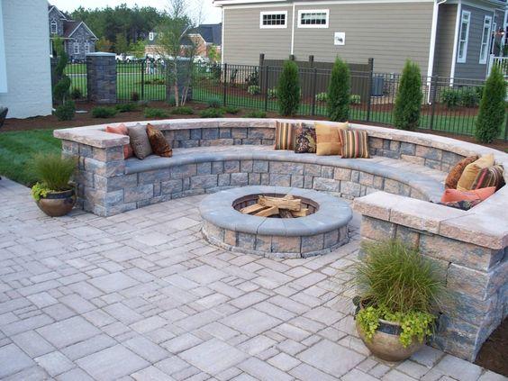 Half Circle Stone Patio Ideas