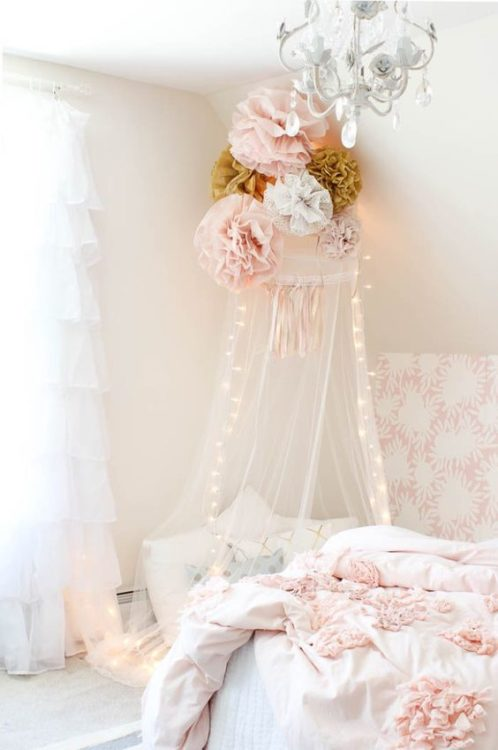 Hanging Rose Girls Room Decor