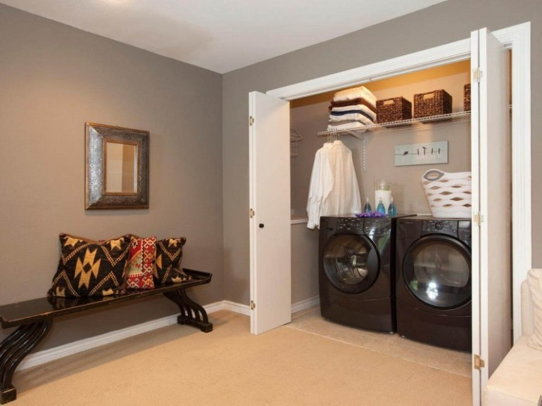 Hidden Basement Laundry Room