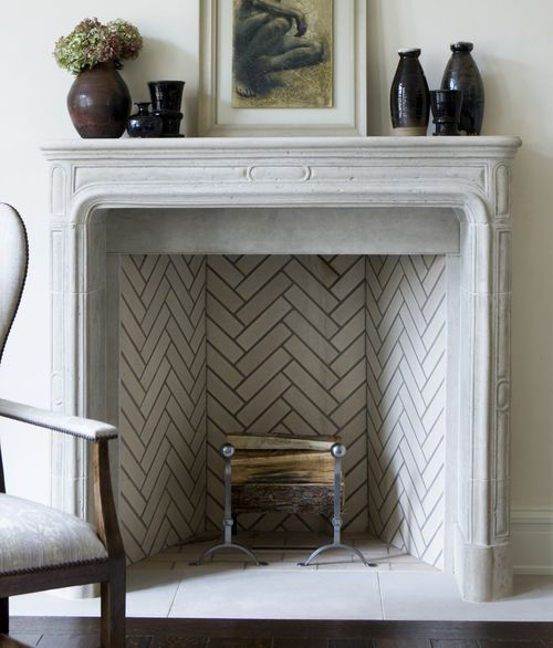 Inside Herringbone Pattern Fireplace Tile Ideas