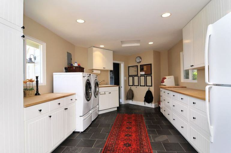 Large Basement Laundry Room