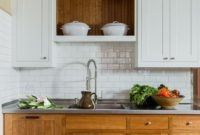 Light Creme and White Two Tone Kitchen Cabinets