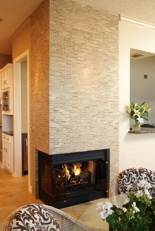 Low Corner Fireplace