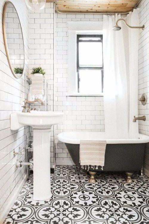 Mid Century Tiny House Bathroom