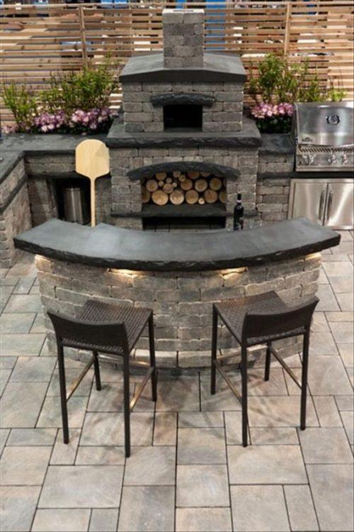 Mini Bar Stone Patio Ideas