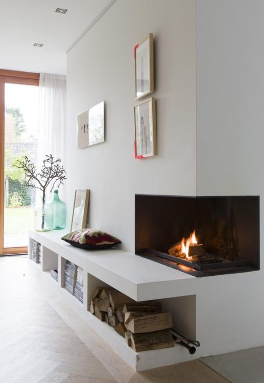 Mini Corner Fireplace
