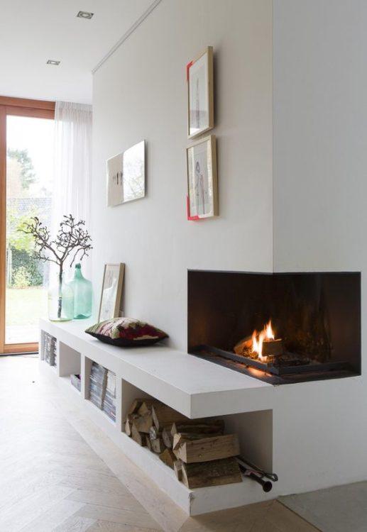 Mini Corner Fireplace