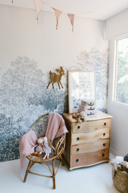 Mirror and Chair Girls Room Decor