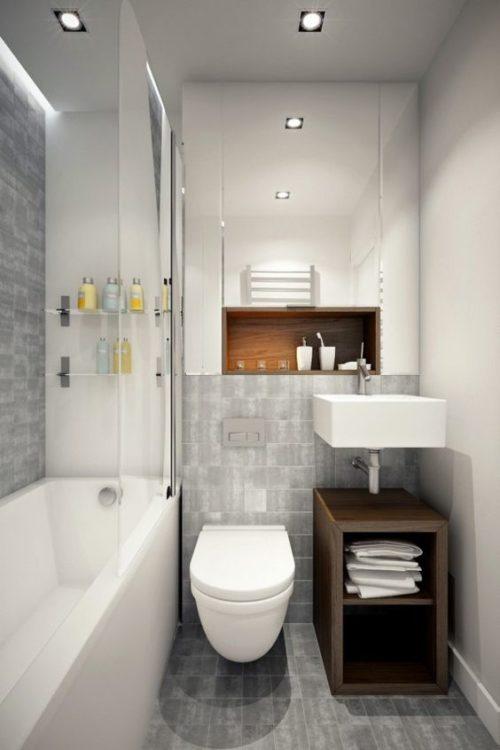 Modern Minimalist Tiny House Bathroom