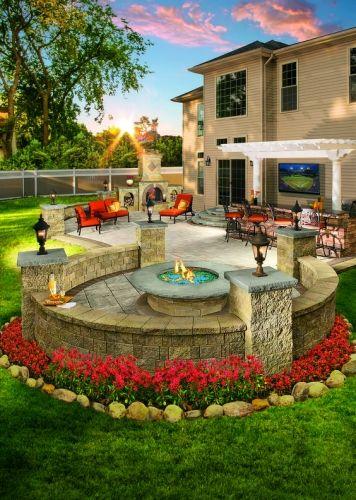 Modern Stone Patio Ideas
