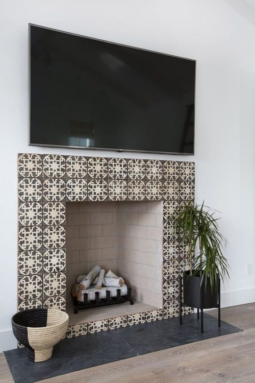Modist Fireplace Tile Ideas