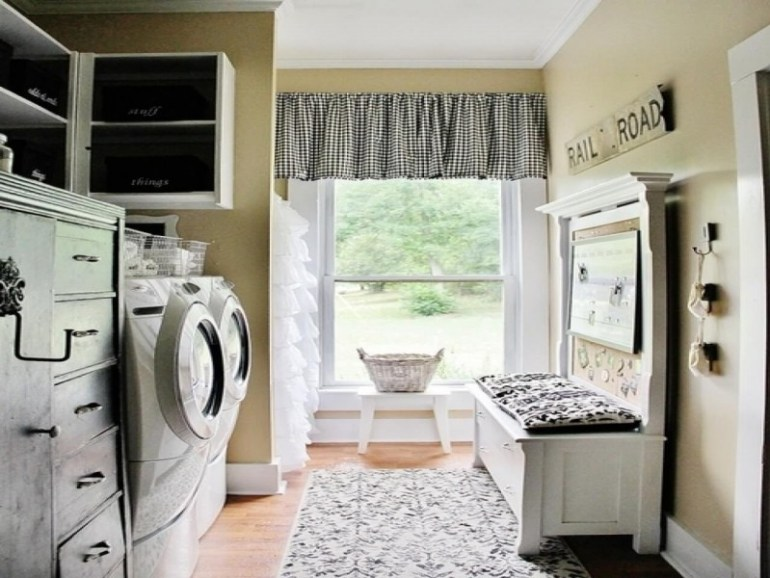 Natural Light Basement Laundry Room