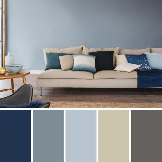 Navvy Grey Living Room Color Scheme Ideas
