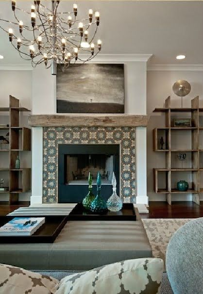 Neat Fireplace Tile Ideas