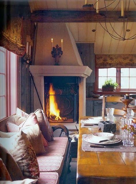 Oldskool Corner Fireplace