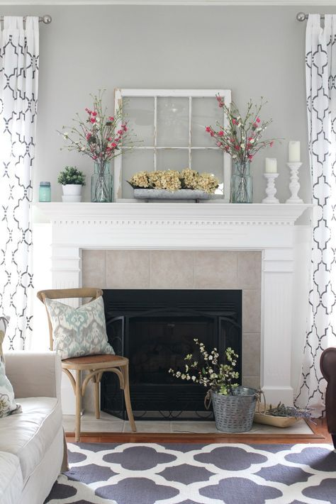 Pastel Brown Fireplace Tile Ideas