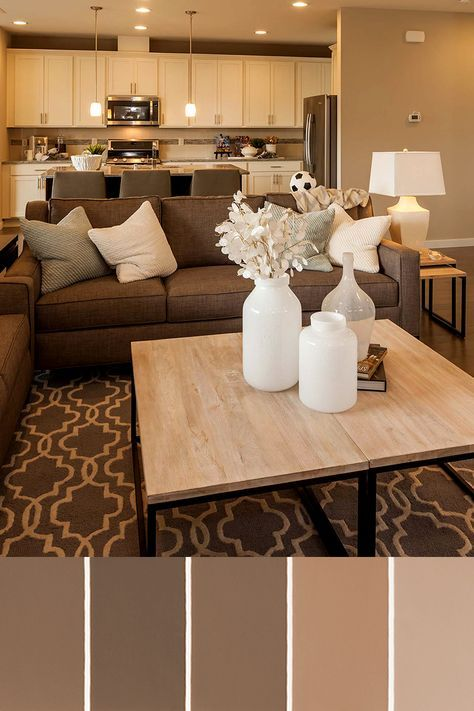Pastel Brown Living Room Color Scheme Ideas