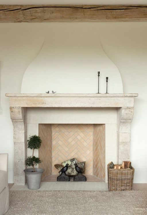 Pastel Chocolate Fireplace Tile Ideas