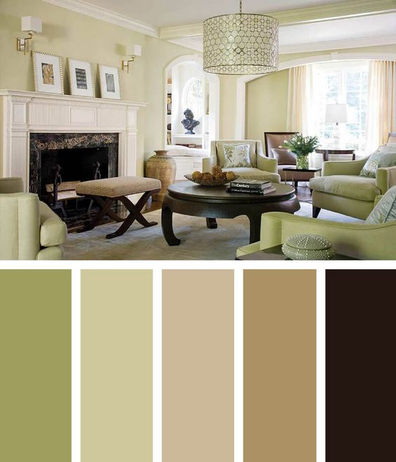 Pastel Green Living Room Color Scheme Ideas