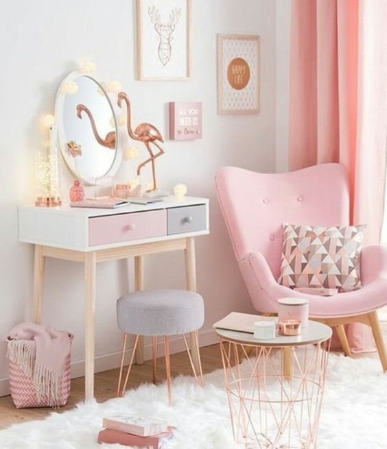 Pink Dressing Spot Girls Room Decor
