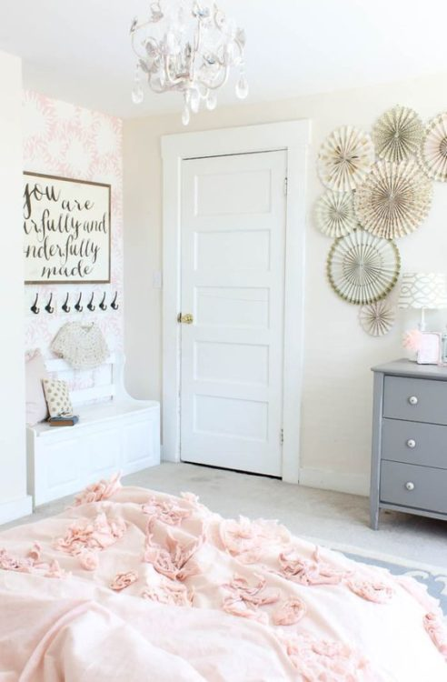 Pink White Girls Room Decor