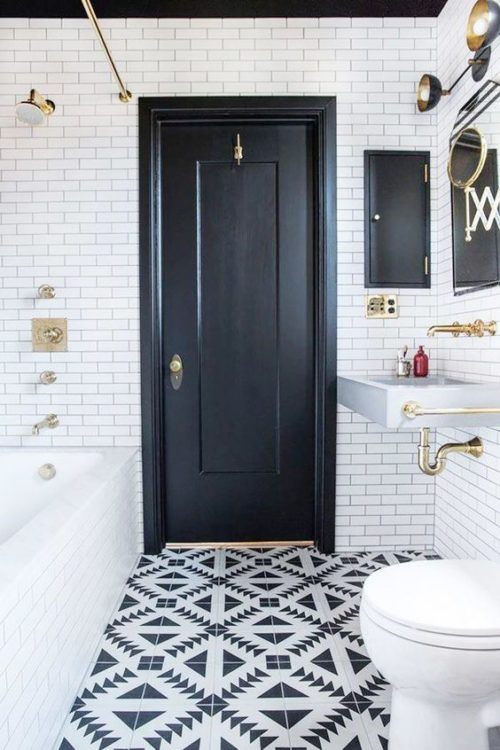Scandinavian Tiny House Bathroom