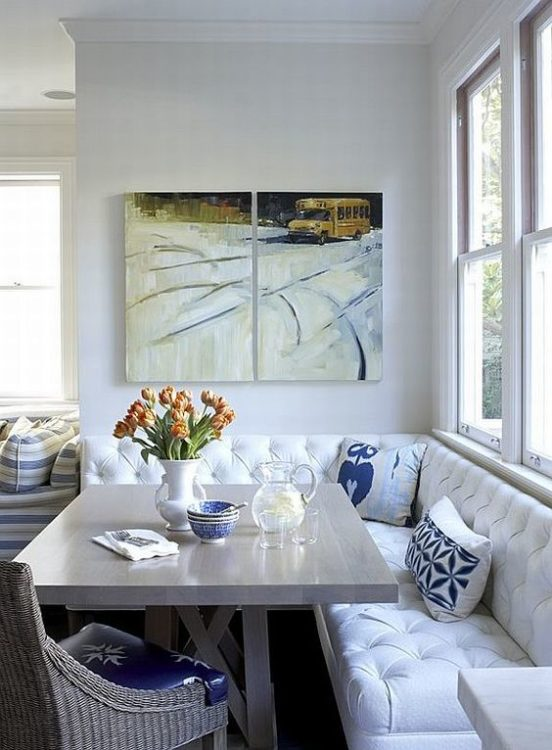 Simple Corner Breakfast Nook Ideas