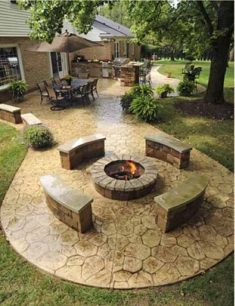30+ Best Stone Patio Ideas for Your Outdoor Patio in Backyard on Small Backyard Stone Patio Ideas id=43885