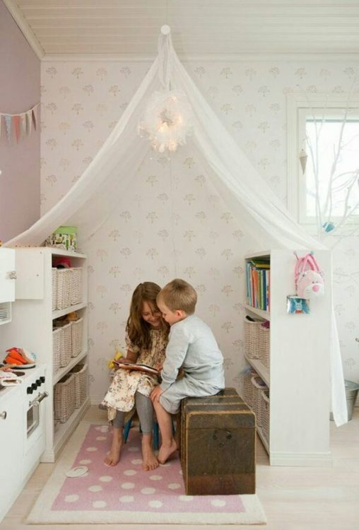 Small Library Girls Room Decor