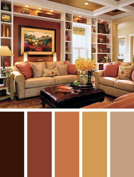 Soft Brown Living Room Color Scheme Ideas