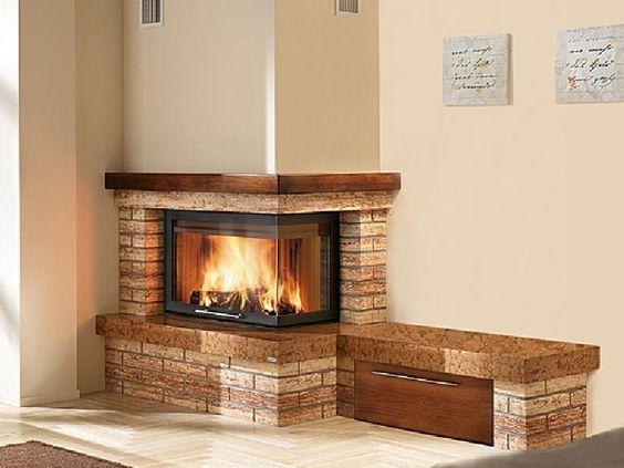 Stone Nook Beside Corner Fireplace