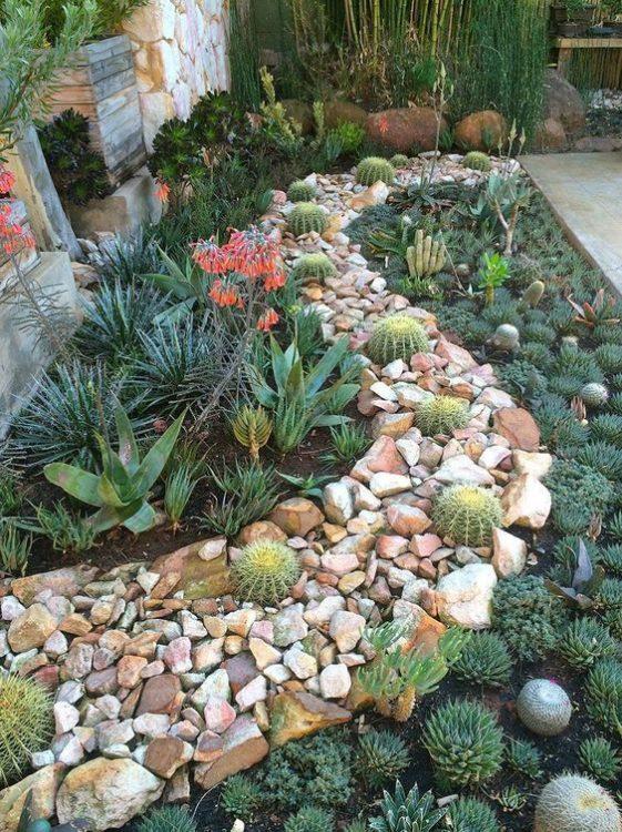 Stone Pathway Succulent Gardens