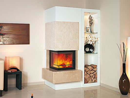 Ultra Modern Corner Fireplace