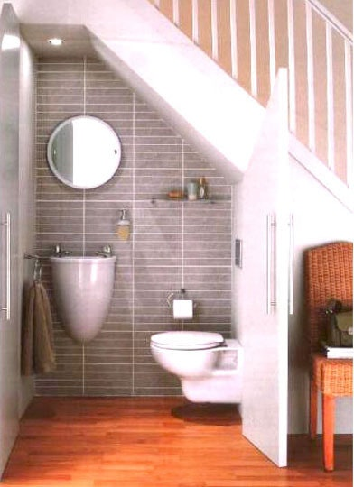 Under Stairs Tiny House Bathroom