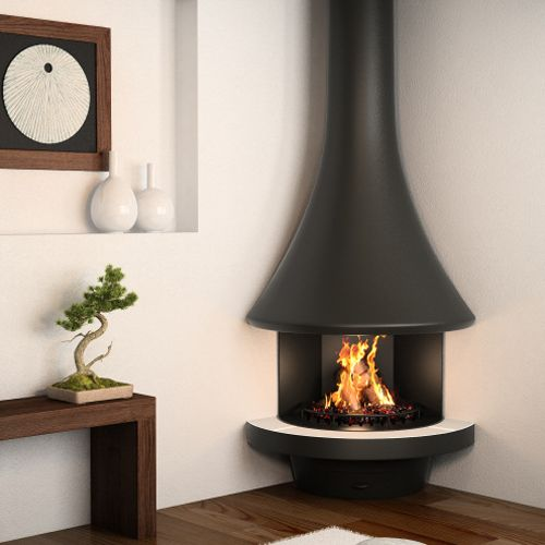 Vintage Corner Fireplace