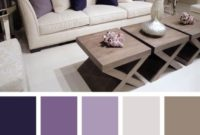 Violet White Living Room Color Scheme Ideas