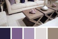 Violet White Living Room Color Scheme Ideas