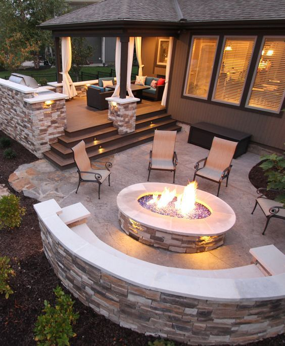 35 Best Patio And Porch Design Ideas: 30+ Best Stone Patio Ideas For Your Outdoor Patio In Backyard