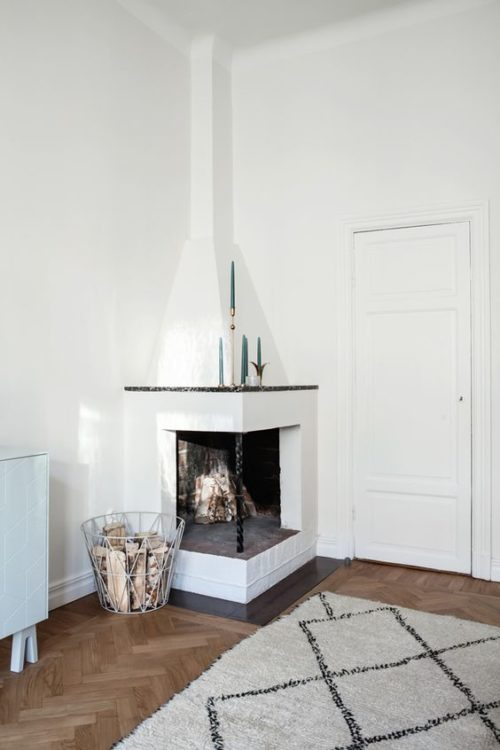 Well Design Corner Fireplace