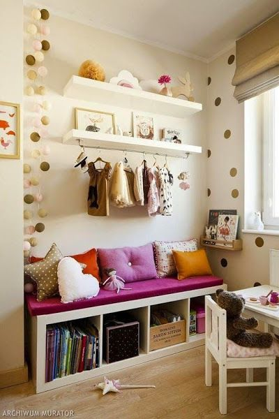 Well Organized Shelves Girls Room Decor