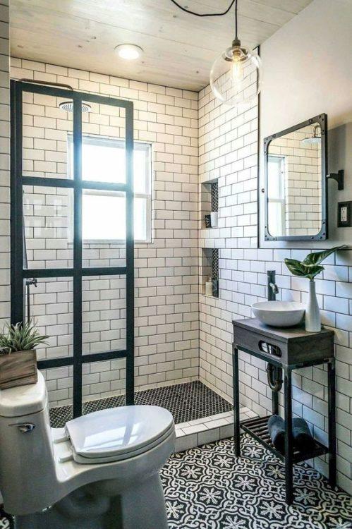 Well Organized Tiny House Bathroom