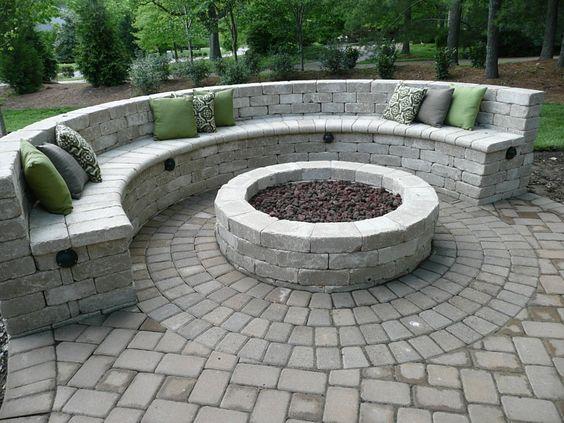 White Stone Patio Ideas 1