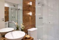 Wood Accents Basement Bathroom Ideas