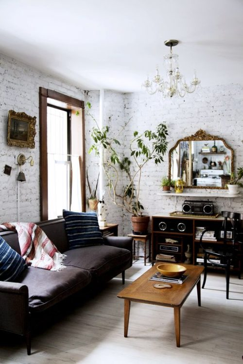25 Elegant White Brick Wall Ideas For All Room Interior Designs