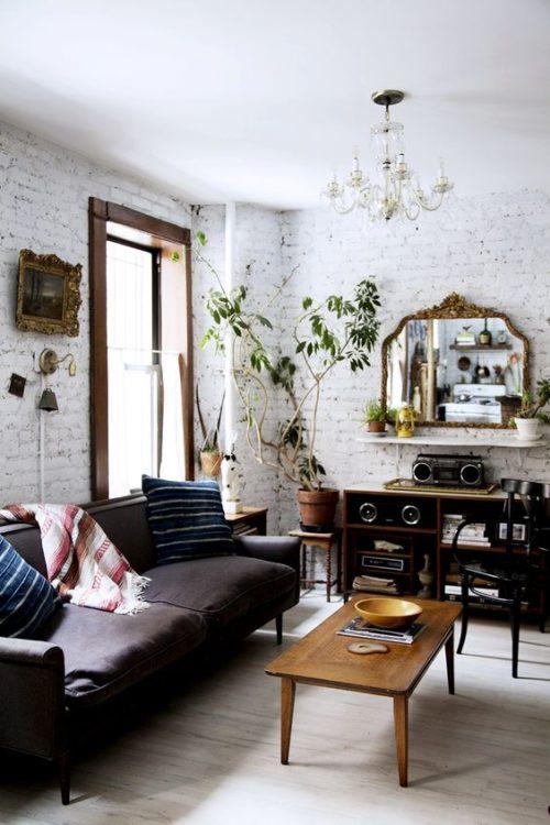 25+ Elegant White Brick Wall Ideas for All Room Interior ...
