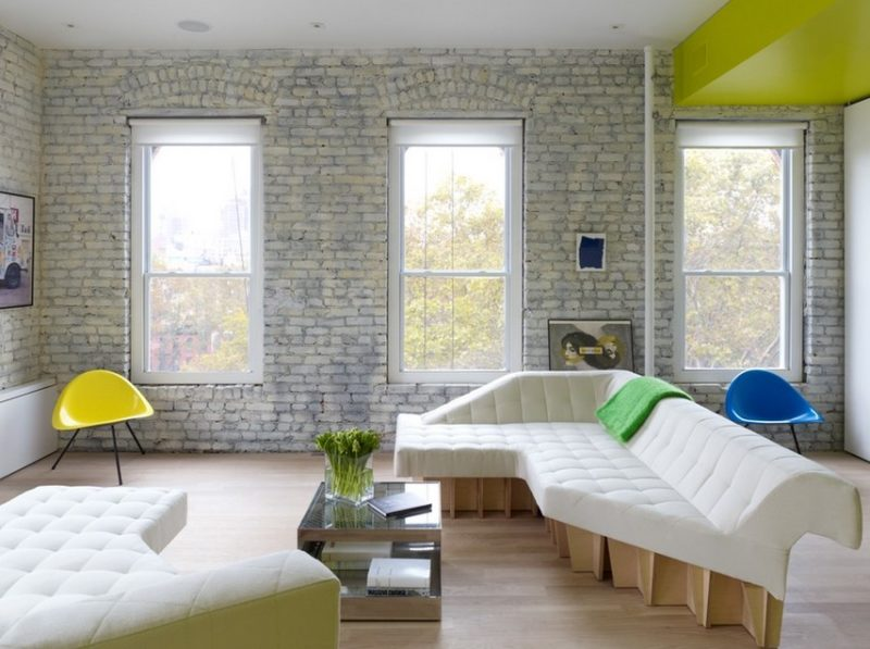 classic white brick wall
