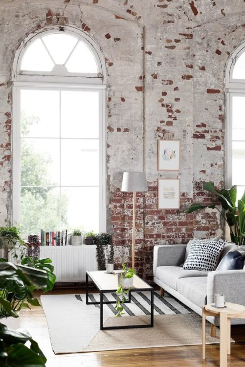 colonial white brick wall