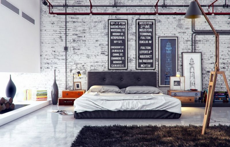 industrial white brick wall
