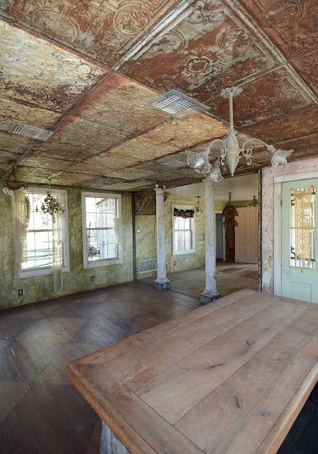 Rustic Metal Basement Ceiling Ideas